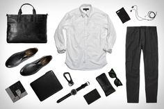 Black is beautiful Tapered Trousers, Closet Essentials, Mode Masculine, Jeans Dress, Black Is Beautiful, Well Dressed, Casual Shirts, Cool Outfits, Mens Fashion