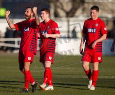 Queen's celebrate their late win over Elgin City