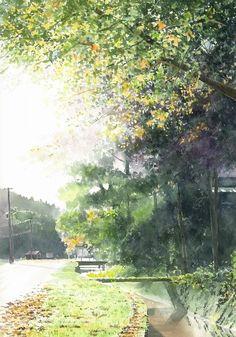 Autumn watercolor picture album Autumn - AbeToshiyuki watercolor gallery