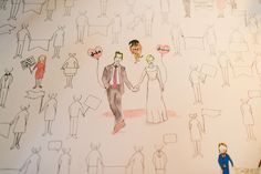 Such a fun alternative to a guest book! Have guests color themselves in and leave a message. Photo taken by Stephanie Rose Photography. #guestbook #coloringbook #wedding