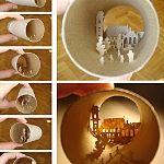 Gallery of toilet paper tube art by Anastassia Elias - amazing details