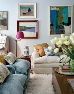 A colorful couch packs so much more personality than one with neutral upholstery. With upholstery in hues from pale blue to cerulean, these nine rooms show how good-looking blue couches and chairs can be.