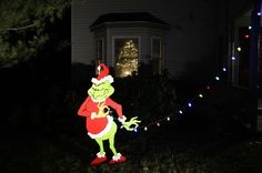 grinch outside decorations - Grinch Christmas Lights Outdoor