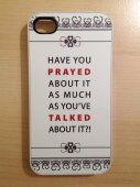 The Ministry Market - iphone 4 4S cover case white Christian Have you prayed about it