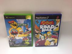 Xbox Game * THE SIMPSONS HIT AND RUN * Complete Retro RARE + PS2 ROAD RAGE | eBay Simpsons Hit And Run, The Simpsons, Road Rage, Xbox Games, Playstation 2, Wii, Lunch Box, Running, The Originals