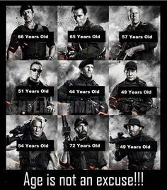 Age is not an excuse! Serious #pensions muscle #Arnie #Norris #Stallone