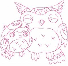 Embroidery : Hoot Owl #2 Hand Embroidery - 3 Sizes
