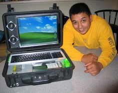 Ken Geronilla and his Pelican 1500 computer case mod from creativemods.com