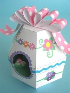 Easter Egg Diorama Printable Paper, $3.00  Paper version of the classic sugar egg