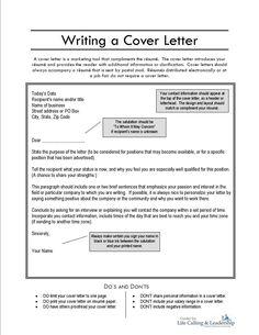 writing a resume cover letter httpwwwresumecareerinfo - Samples Of Cover Letter For Resume