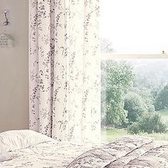 Lila Pair of Standard Lined Curtains