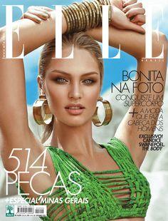 Candice bonitona na capa da Elle de setembro