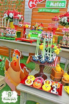 Decoracion cumple Farm Animal Birthday, Cowboy Birthday, Minion Birthday, Baby Boy Birthday, Farm Birthday, 3rd Birthday Parties, Fiesta Decorations, Kids Party Themes, Farm Party