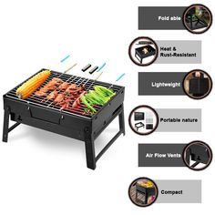 Uten BBQ portable folding lightweight grill is perfect for picnic, parties, beach, a camping trip anywhere you want. This grill is a pearl for all kinds of users. Furthermore, Uten BBQ starts to work fast and has 12 airway vent to control heat. This grill is compact and sturdy. Its Baking net can be a pull, clean easily.#bbq_chicken #bbq_chicken_crockpot #bbq_chicken_pizza #bbq_chicken_instant pot #bbq_chicken_marinade #bbq_chicken_salad #bbq_chicken_breast #bbq_chicken_thighs Bbq Chicken Marinade, Bbq Chicken Thighs, Bbq Chicken Salad, Chicken Pizza, Japanese Bbq Grill, Bbq Recipes Sides, Picnic Parties, Best Bbq, Grilled Meat