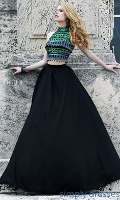 Dress, High Neck Two Piece Formal Gown by Sherri Hill - Simply Dresses
