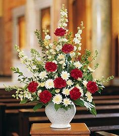 Vivid Sentiments Funeral Floral Arrangement in Minneapolis, MN - Schaaf Floral Arrangements Funéraires, Funeral Floral Arrangements, Large Flower Arrangements, Altar Flowers, Church Flowers, Funeral Flowers, Wedding Flowers, Flowers Garden, Simple Flowers