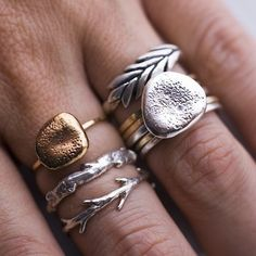 Silver Oak Branch Ring by colbyjune on Etsy, $45.00    Also beautiful! I would love the set.