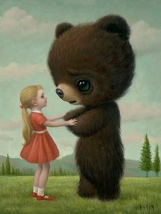 """""""Goodbye Bear"""" from """"The Tree Show"""" Exhibition by Mark Ryden, 2006."""
