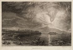 After Joseph Mallord William Turner 'Vesuvius, engraved by T. Jeavons', published 1830