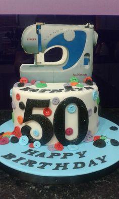 Sewing machine Themed Cake !