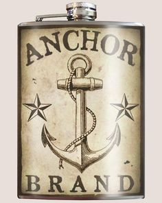 Stainless Steel Flask 8 oz Liquor Alcohol Wedding Party Anchor Sailor Tattoo | eBay