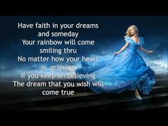 Lily James - A dream is A wish your Heart make Lyrics - Cinderella Soundtrack - YouTube