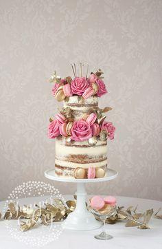 Rustic glamor naked cake by Juniper Cakery