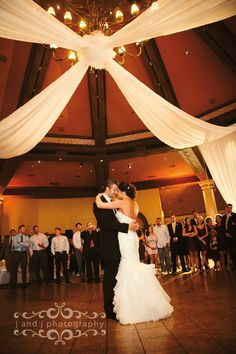 JW Marriot Las Vegas Wedding Photos by J and J Photography. First Dance. Reception. Bride and Groom.