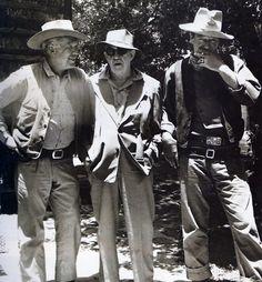 Ward Bond, John Ford, and John Wayne
