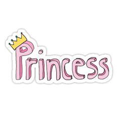 """Princess Sticker"" Stickers by amandabrynn Stickers Cool, Bubble Stickers, Phone Stickers, Printable Stickers, Planner Stickers, Easy Flower Drawings, Drawing Flowers, Desenho Pop Art, Collage"