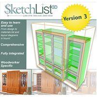 SketchList 3D Furniture Design Software, Version 3
