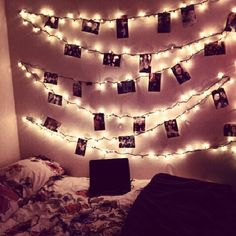 Lights + Pictures. doing to my room right now!;D