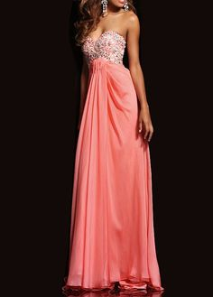 Gorgeous Chiffon A-line Sweetheart Neckline Full Length Beaded Prom Dress With Lace Appliques