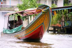 Speed in the Klongs of Bangkok by Thai pix Wildlife photography