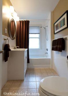 budget bathroom makeover featuring tile reglazing, bathroom ideas, home decor, tile flooring, tiling, Even the original cheap 12x12 ceramic tile floor looks better