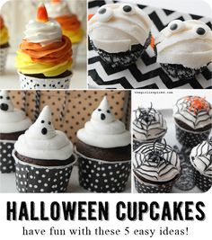 5 Awesome DIY Halloween Cupcakes that anyone can make! #DIY4Halloween
