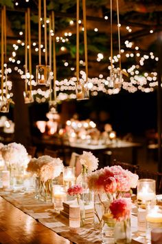 Candles and fairy lights