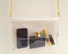 Deluxe Clear Clutch with String Chain for Shoulder Deluxe