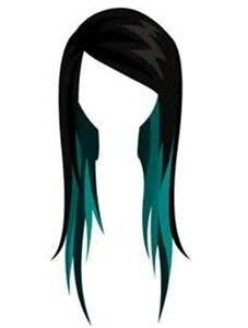 Teal peek-a-boo. What my hair will look like after I'm done!