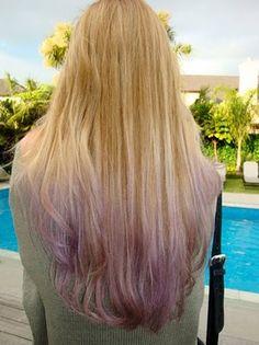 Gradient purple dip dye