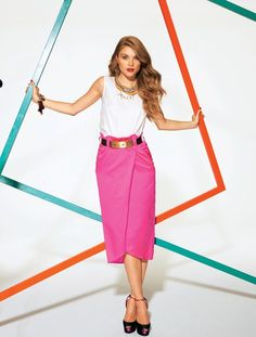 02/2012 Skirt with front pleat
