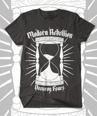 Modern Rebellion. Black T-shirt. Front only.