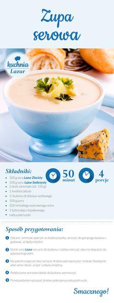Zupa serowa /zupa /ser /Lazur /ser pleśniowy /rokpol /przepisy /kuchnia lazur