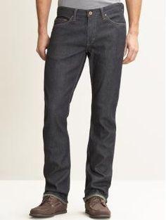 Vintage Men Dark Grey Denim Jeans fln4T868c