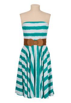 Stripe Belted tube dress - maurices.com