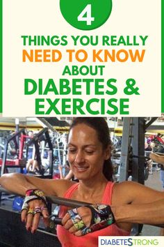 Diabetes and exercise - I have always known at some level that exercise did good things for my blood glucose, even before I had my first blood glucose meter. Being active always made me feel better, physically and emotionally. Here are some things that I know about diabetes and exercise that I wish someone had told me years ago. #diabetes #diabetescare #diabetestips #fitnesstips #diabetesstrong #managingdiabetes