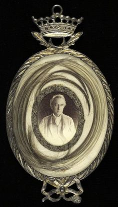 Edwin's locket with possibly Mary Ann's hair NYPL