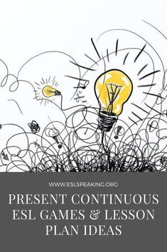 Check out the top picks for present continuous ESL activities, games, lesson plans & worksheets. Have some fun with the present progressive TEFL games and activities. #grammar #present #progressive #teaching #education #esl #efl #tesol #tesl #elt #english #eslgrammar #englishgrammar Fluency Activities, Grammar Activities, Teaching English Grammar, Teaching English Online, Better English, English Fun, Make Money On Amazon, Good Sentences, Esl