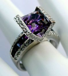 "Bellarri ""Romantica"" 18K White Gold Amethyst & Diamond"