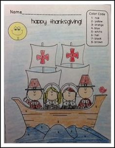 """FREE LANGUAGE ARTS LESSON - """"FREE Thanksgiving Color by Number"""" - Go to The Best of Teacher Entrepreneurs for this and hundreds of free lessons. Pre-Kindergarten - 2nd Grade  #FreeLesson  #LanguageArts  #Thanksgiving http://www.thebestofteacherentrepreneurs.org/2015/10/free-language-arts-lesson-free.html"""